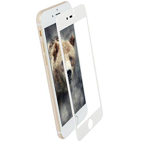 いたずら電気技師燃料オウルテック iPhone 8 Plus / 7 Plus 耐衝撃 全面保護 強化ガラス Wストロング製法 0.33mm クリア × ホワイト OWL-TGTIP7PTD-WCL
