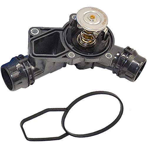 Engine Coolant Thermostat+ Housing +Sensor +Gasket for BMW E36 E39 E46 E60 ()