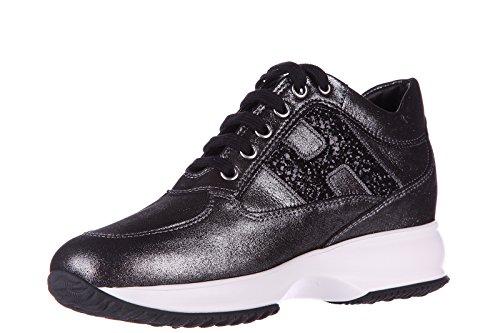 Hogan chaussures baskets sneakers femme en cuir interactive h spezzata glitter n