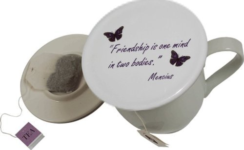 Topit Tea Cup Cover/Lid with Tea Bag Caddy - Friendship