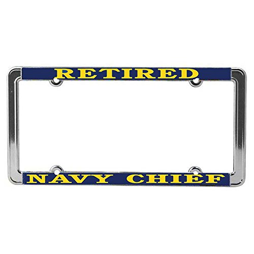 US Navy Chief RETIRED License Plate Frame (Navy Retired)