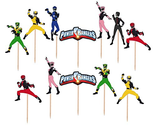 (Power Rangers Cupcake Toppers Made From Premium Cardstock)