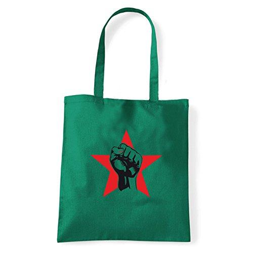 rosso Pugno Porter À Femme bag shirt Vert T L'épaule Sac Pour Art wq7tfEw