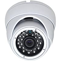SVD, HD-TVI IR Mini Dome Security Camera, 2.4 Megapixel 1080P, 2.8mm Fixed Lense, 65 IR Outdoor Dome, White