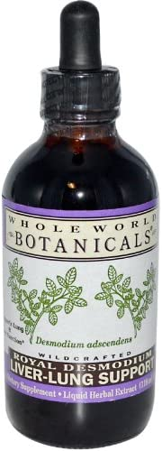 Whole World Botanicals Liver Lung Support Royal Desmodium — 4 oz