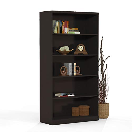 Mayline SB5ESP Sorrento Bookcase, 5 Shelf, Espresso -