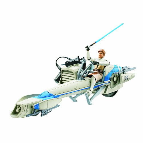 Star Wars Deluxe Figure with Vehicle - Barc Speeder Bike with Obi Wan -