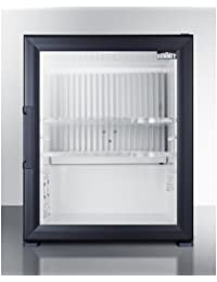 MBH32GL 17 Glass Door Beverage Center with 1.06 cu. ft. Capacity 2 Plastic Shelves Automatic Defrost Adjustable Thermostat and Reversible Door in Black