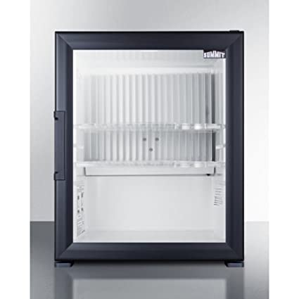 Amazon Silent Solid State Minibar With Glass Door And Black