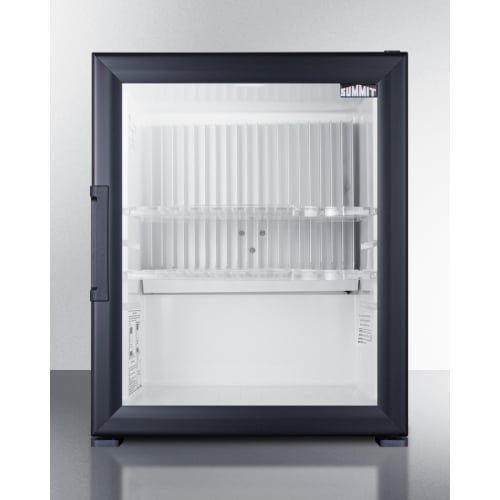 (Silent Solid State Minibar With Glass Door And Black Cabinet)