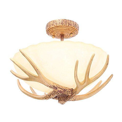 Hampton Bay 17199 Antler 3 Light Semi Flush Mount 11.8