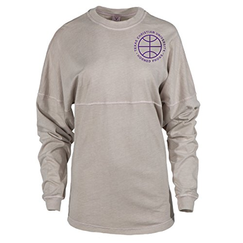 Official NCAA Texas Christian University Horned Frogs TCU Horned Frog FROGS FIGHT! Women's Long Sleeve Spirit Wear Jersey T-Shirt -