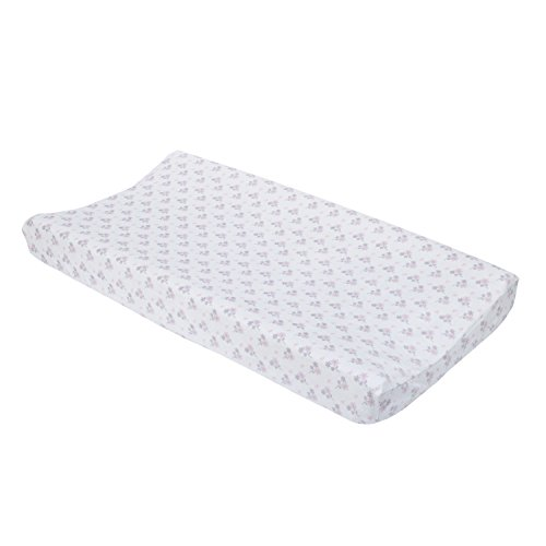 NoJo Ballerina Bows Super Soft Changing Pad Cover, Pink/Silver/White