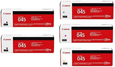 【純正品】CANON トナーカートリッジ045 4色5本セット (CRG-045 BK/C/M/Y) + BK