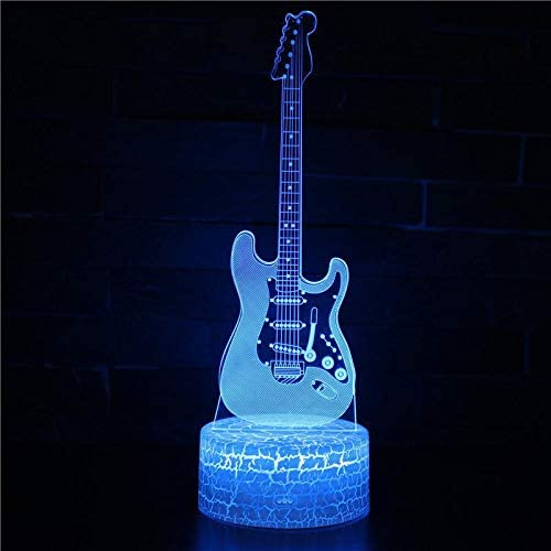Led Lámparas Modelo De Guitarra Eléctrica Musical 3D Mesa Led ...