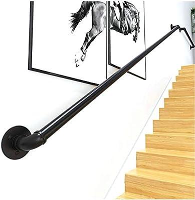 Escalera de barandilla pasamanos Kit Completo.Vintage Forjado de Hierro galvanizado de tuberías de Escalera Baranda, Pasillo Interior del ático y Asas Negro barandilla (Size : 30cm): Amazon.es: Hogar