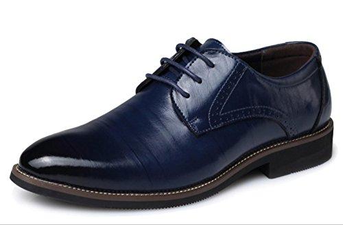 Pattini di cuoio degli uomini di CSDM Scarpe da sposa casual di punta delle scarpe da sposa di punta di formato , blue , 37