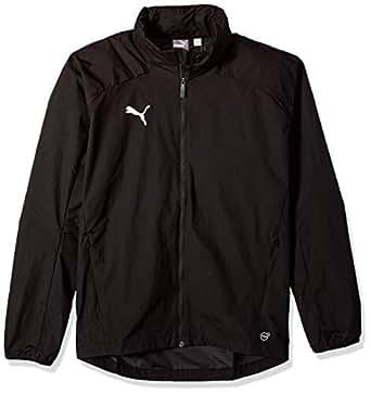PUMA Men's Liga Training Rain Jacket, Puma Black/Puma White, S