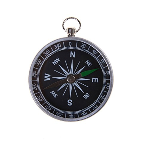 7thLake Pocket Compass for Hiking Camping Traveling Outdoor - Keychain - Portable Round Compass by 7thLake (Image #1)