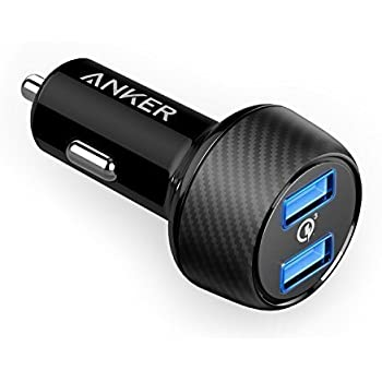Anker Quick Charge 3.0 39W Dual USB Car Charger, PowerDrive Speed 2 for Galaxy S7 / S6 / Edge / Plus, and PowerIQ for iPhone X / 8 / 7 / 6s / Plus, iPad Pro / Air 2 / mini, LG, Nexus, HTC and More