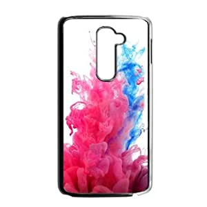 LG G2 Phone Cases Black Watercolor Red FAL982401