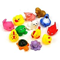 Creative Kids 8 Pcs. Colourful Bath Toys (Premium Quality Bath Toys for Baby)