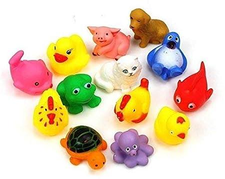 Creative Kids 8 Pcs. Colourful Bath Toys (Premium Quality Bath Toys for Baby)