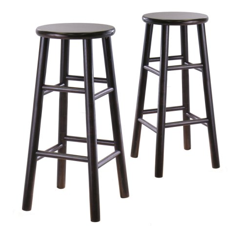 Winsome Wood S/2 Wood 30-Inch Bar Stools, Espresso Finish ()