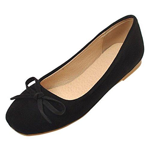 AicciAizzi Black 9 Comfort Women Flat Ballet Shoes rqrTZC