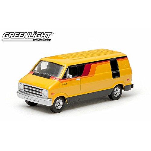 1/64 1976 Dodge B-100 Diecast Metal Van by Greenlight Dodge B-100 Van