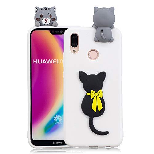 Ultra Fine Noir Lite Huawei Motif 3d Rouge Kawaii Souple Yobby Animal Slim Protection Lite Silicone Chat Arc P20 Coque panda Animé Antichoc Caoutchouc Mignon Dessin Doux Étui Housse wFnvXq0z