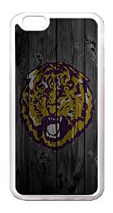 iPhone 6 Case Cover - Wood Unique Design Wood Lion Purple TPU Rubber Bumper Case for iPhone 6 4.7 Inch Translucent