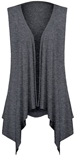 Sleeveless Cardigans for Women Plus Size(M,Gray)
