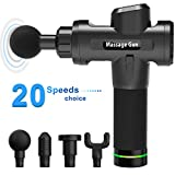 Massage Gun,KOFOHO Handheld Cordless Professional Percussion Deep Tissue Body Muscle Fascia Massager for Athletes Helps Relax Relieve Muscle Soreness and Stiffness--20 Speed Levels Digital Display