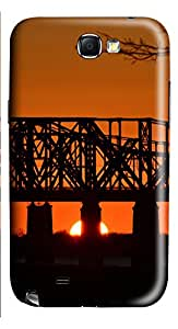 Samsung Galaxy Note II N7100 Cases & Covers - Sunset Bridge Custom PC Soft Case Cover Protector for Samsung Galaxy Note II N7100