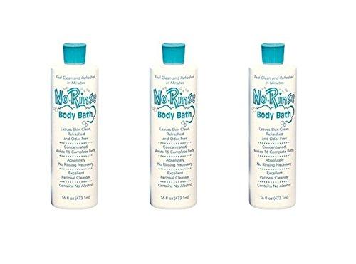 (PACK OF 3) No Rinse Body Bath 16oz