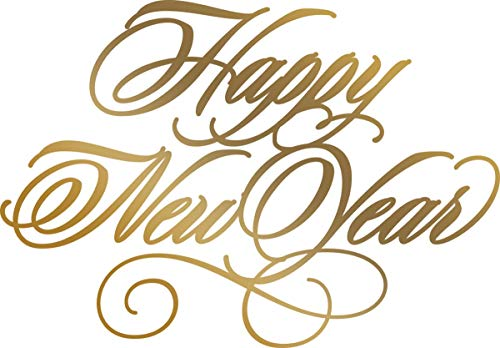 - Artdeco Creations CO725569 Happy New Year Couture Anna Griffin Hot Foil Stamp, Multicolor