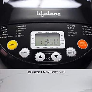 Lifelong Atta and Bread Maker 550 Watt (19 Pre-Set Menu with Adjustable Crust Control) 8