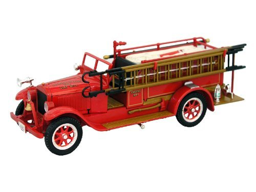 SIGNATURE MODELS 1928 REO FIRE ENGINE HOSE & LADDER TRUCK in 1:32 Scale Diecast Metal