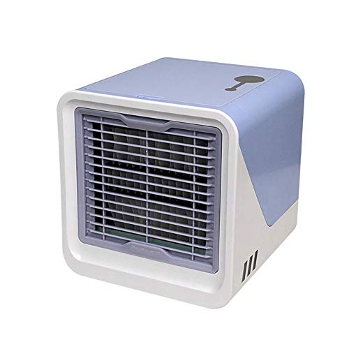 Mini Portable Air Cooler, Portable Personal Area Portable Air Conditioner Portable Mini USB Desktop Fan Humidifier for Office Home Outdoor Travel ()