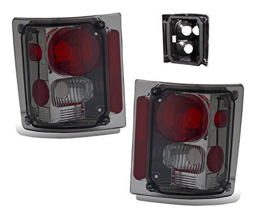SPPC Smoke Euro Tail Lights Assembly Set for Chevrolet Full Size - (Pair) Driver Left and Passenger Right Side Replacement ()