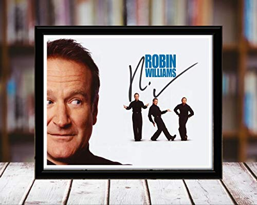 (Robin Williams Autograph Replica Print - 8x10 Desktop Framed Print - Landscape)
