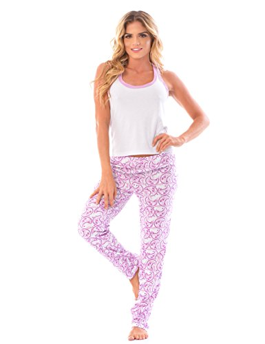 Womens Pajama Pants & Cami SET / Matching Sleepwear Tank Top and PJ Pants at Amazon Womens Clothing store: