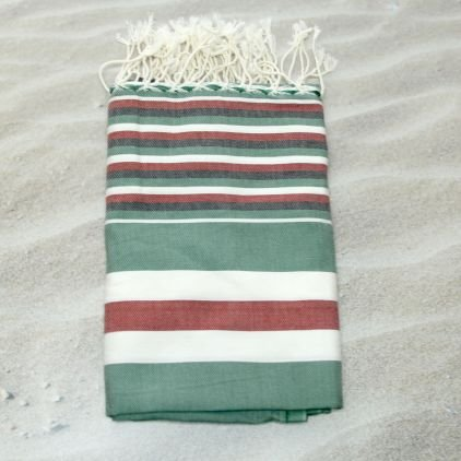 Hawaii rojo 100% algodón Fouta toalla de baño, 100 cm x 200 cm, probablemente la ...