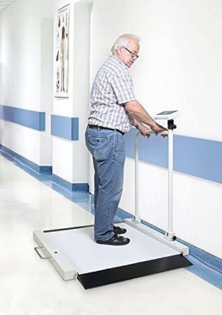 Silla Báscula con dos RAMPAS integradas para cómoda auffahren [Núcleo MWA 300 K de 1PM] con escaneado de y medicina Autorización, rango de pesaje [Max]: 300 ...