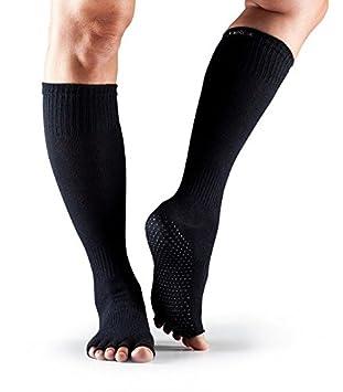 Toesox – Calcetines Rodilla Alta Calcetines de agarre, negro, small