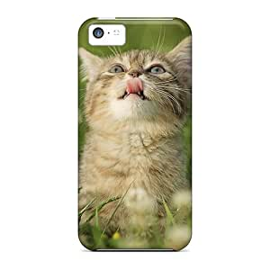 New RQqTyYQ19029jaulQ A Beautiful Cat Skin Case Cover Shatterproof Case For Iphone 5c