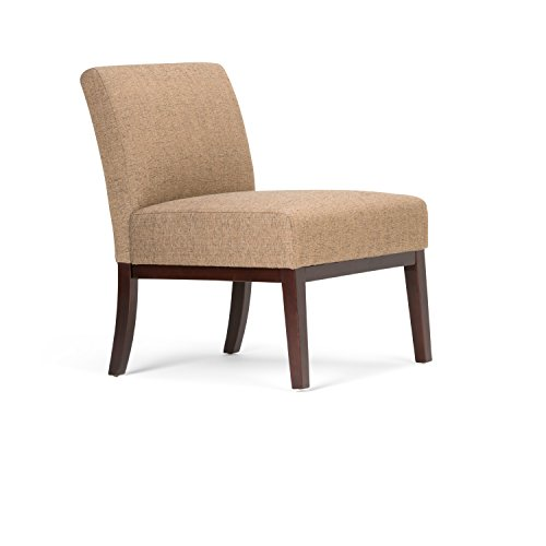 Simpli Home Upton Accent Chair, Brown