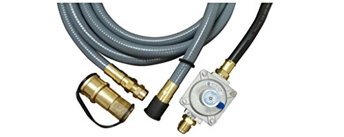 Natural Gas Hose and Regulator for Gas Grill Conversion (Natural Gas Grill Regulator)