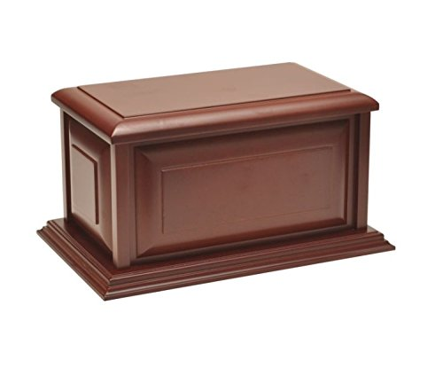 Large Traditional Cherry Finish MDF Wood Cremation Urn, Adult, Beautiful and Affordable - Misc Urn